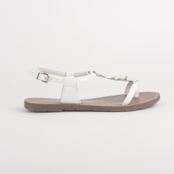 SANDALES BLANCHES OUVERTES