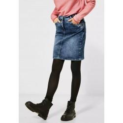 Jupe en jeans Cecil avec...