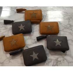 porte monnaie zippé étoile