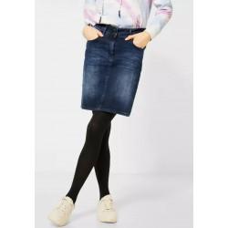 Jupe en Jeans bleu foncé Cecil